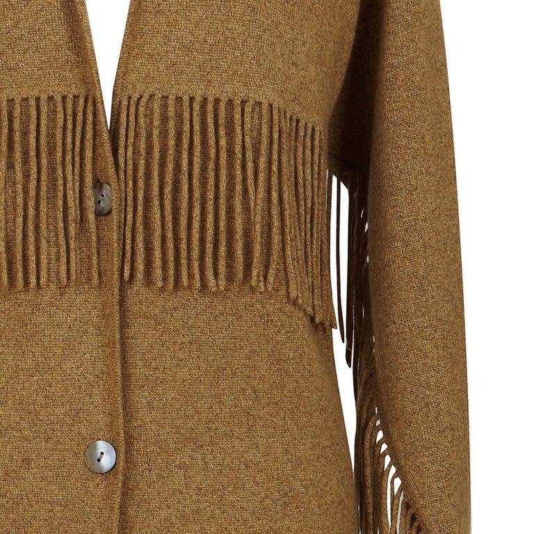TSE Cashmere Tassel Detail Pocket Coatigan Cardigan In Fair Condition For Sale In , GB