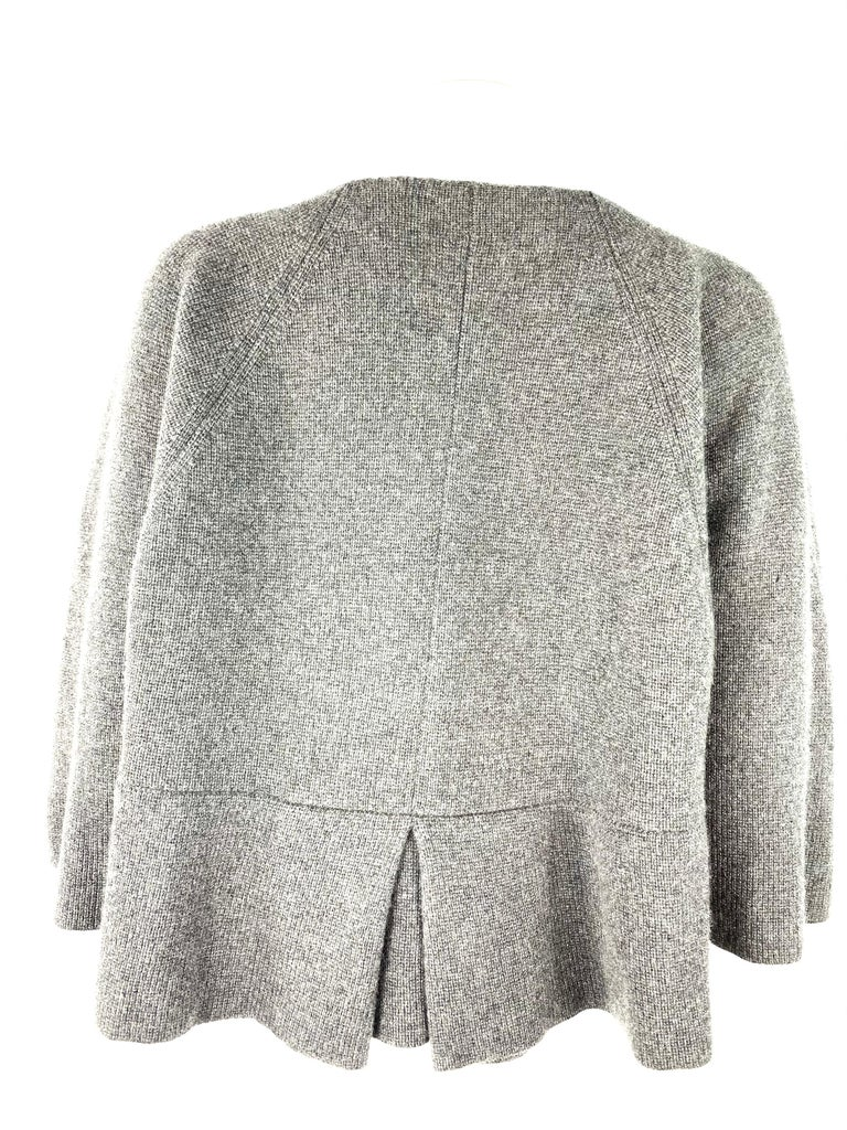 TSE Grey Cashmere Sweater Cardigan Top, Size S/M In Excellent Condition For Sale In Beverly Hills, CA