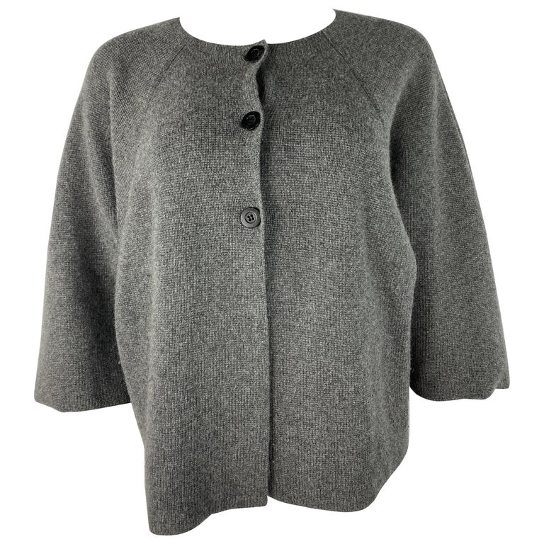 TSE Grey Cashmere Sweater Cardigan Top, Size S/M For Sale