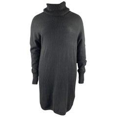 TSE Size L Black Knitted Cashmere Turtleneck Sweater Dress