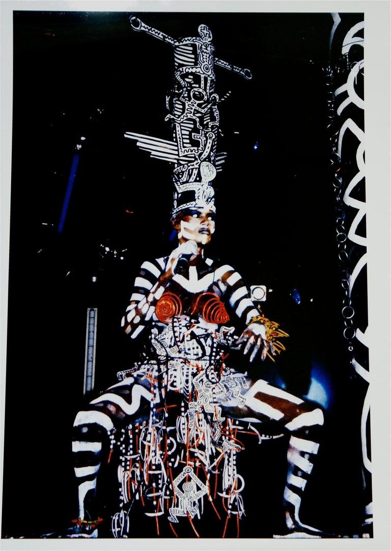 Tseng Kwong Chi Figurative Photograph - Grace Jones