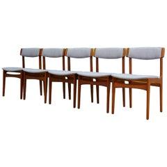 T.S.M Chairs Teak Vintage Danish Design Gray, 1960s