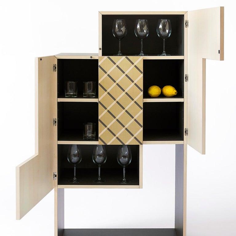 Italian Tsukimi Bar Cabinet For Sale
