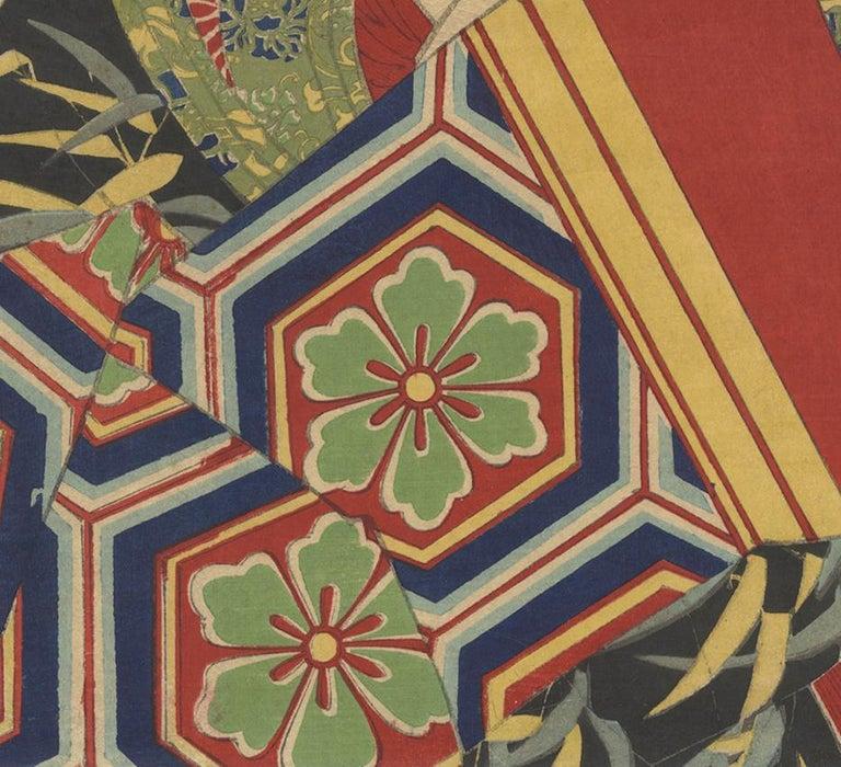 Yoshitoshi, Beauty, Courtesan, Ukiyo-e, Japanese Woodblock Print, Geisha, Meiji 1