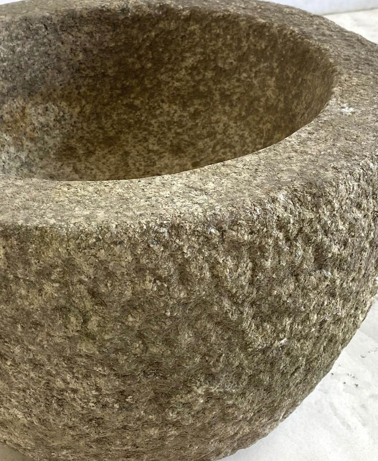 20th Century Tsukubai, Japanese Stone Basin For Sale