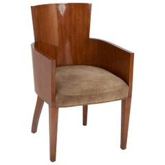 Tub Back Mahogany Art Deco Armchair