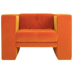 Tubby Orange Armchair