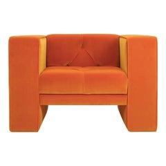 Tubby Orange Armchair