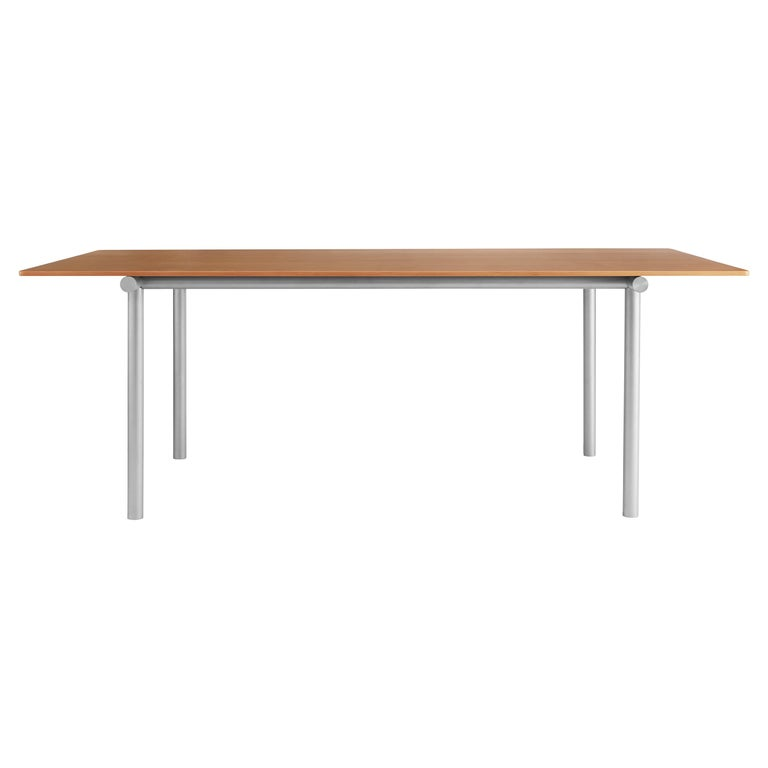 For Sale: Brown (Oregon Pine) Tubby Tube Conference Table with Aluminum Frame by Faye Toogood