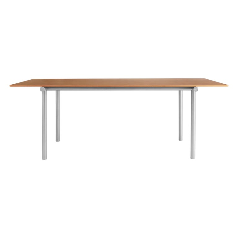 For Sale: Brown (Oregon Pine) Tubby Tube Large Dining Table with Aluminum Frame by Faye Toogood