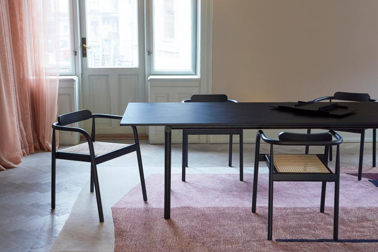 Tubby Tube Large Dining Table with Black Steel Frame by Faye Toogood For Sale 4