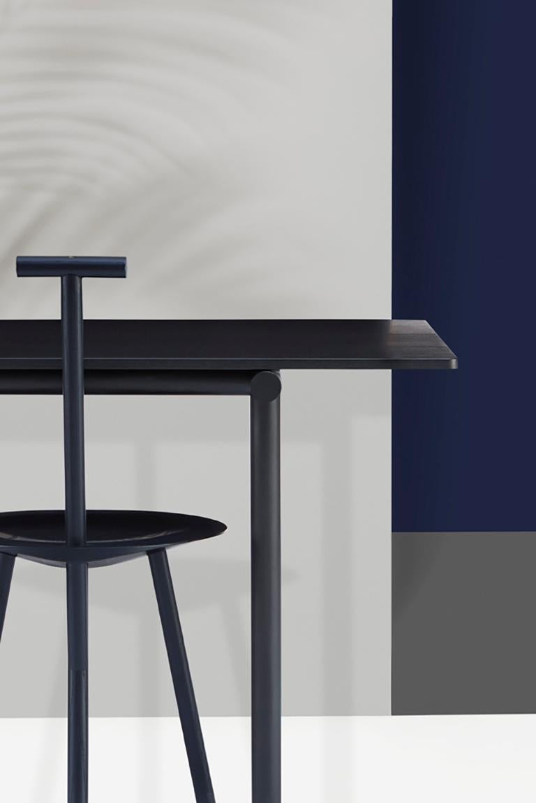 Powder-Coated Tubby Tube Large Dining Table with Black Steel Frame by Faye Toogood For Sale