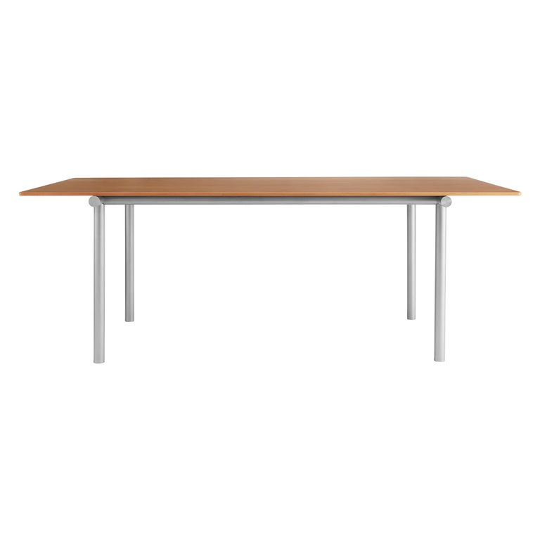 For Sale: Brown (Oregon Pine) Tubby Tube Long Conference Table with Aluminum Frame by Faye Toogood
