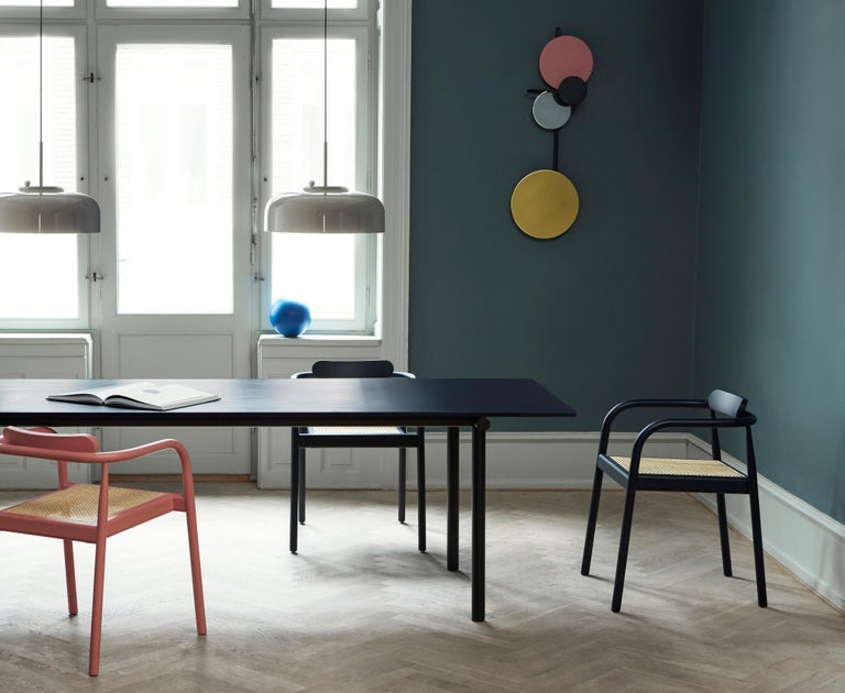 Tubby Tube Small Dining Table with Black Steel Frame by Faye Toogood For Sale 3