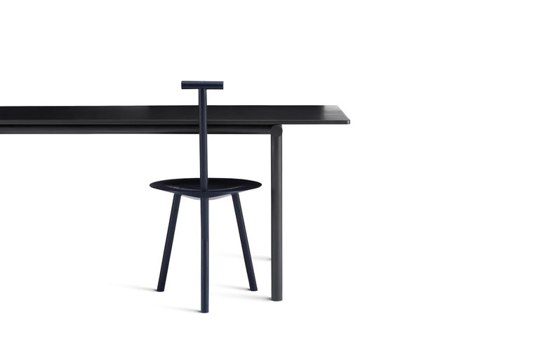 Modern Tubby Tube Small Dining Table with Black Steel Frame by Faye Toogood For Sale