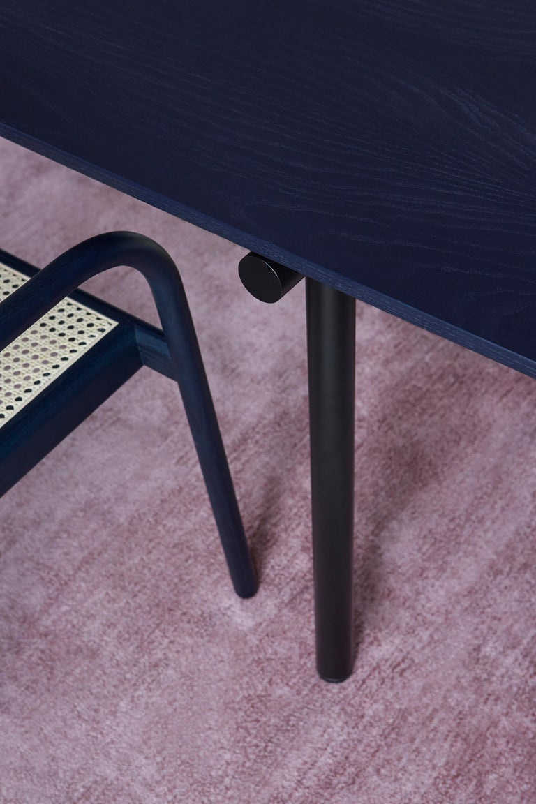 Tubby Tube Small Dining Table with Black Steel Frame by Faye Toogood In New Condition For Sale In New York, NY