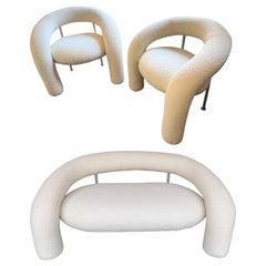 Tube Living Room Set Armchairs Sofa by Rossi di Albizzate, Italy, 1990s