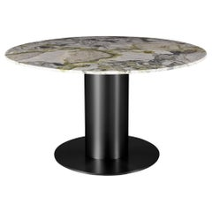 Tube Wide Dining Table with Primavera Marble Top by Tom Dixon