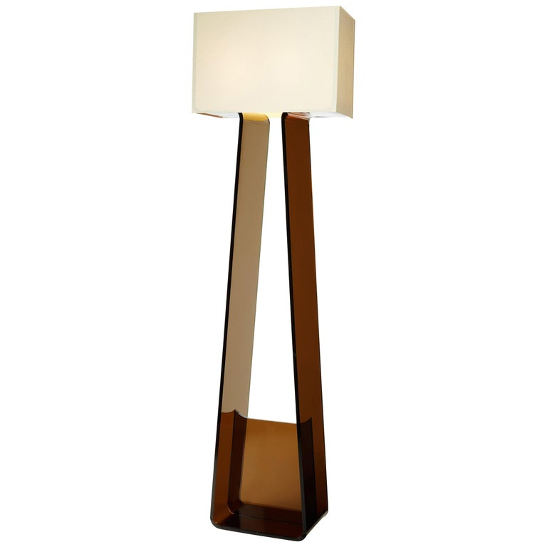 Tubetop 60 Floor Lamp in White and Charcoal by Pablo Designs For Sale