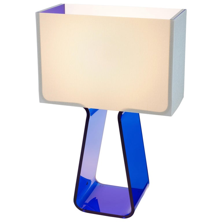 Tubetop Table Lamp in Cobalt Blue by Pablo Designs For Sale