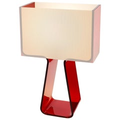 Tubetop Table Lamp in Ruby Red by Pablo Designs