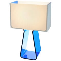 Tubetop Table Lamp in Sky Blue by Pablo Designs