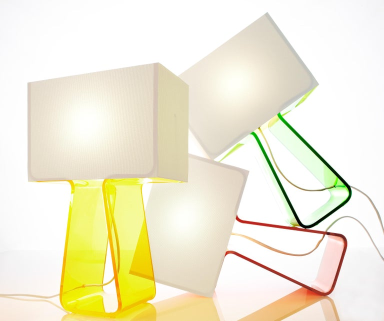 Modern Tubetop Table Lamp in Yellow by Pablo Designs For Sale