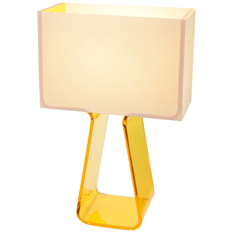 Tubetop Table Lamp in Yellow by Pablo Designs For Sale