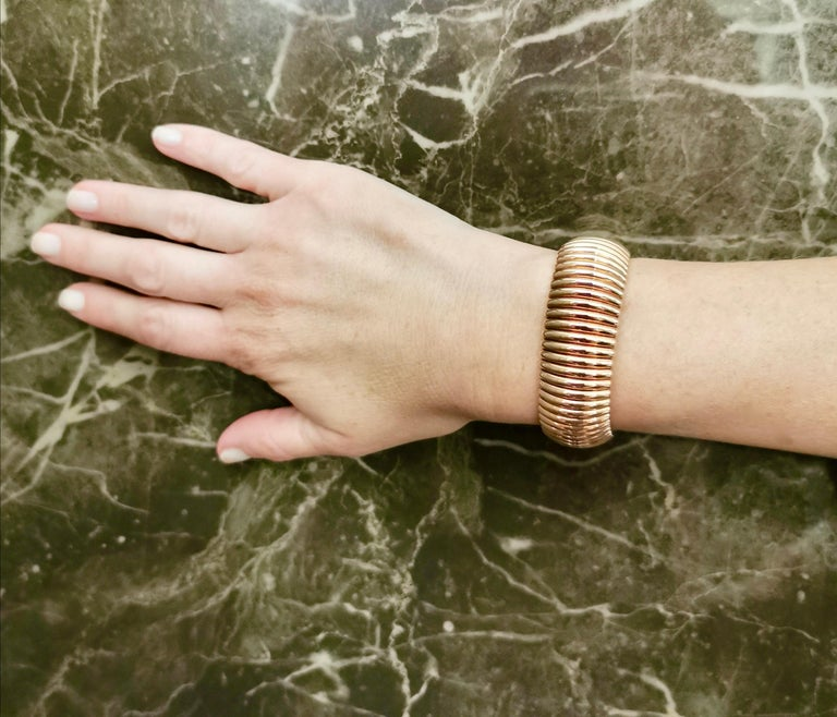 Tubogas Yellow Gold 18 Karat Bracelet In Excellent Condition In Geneva, CH