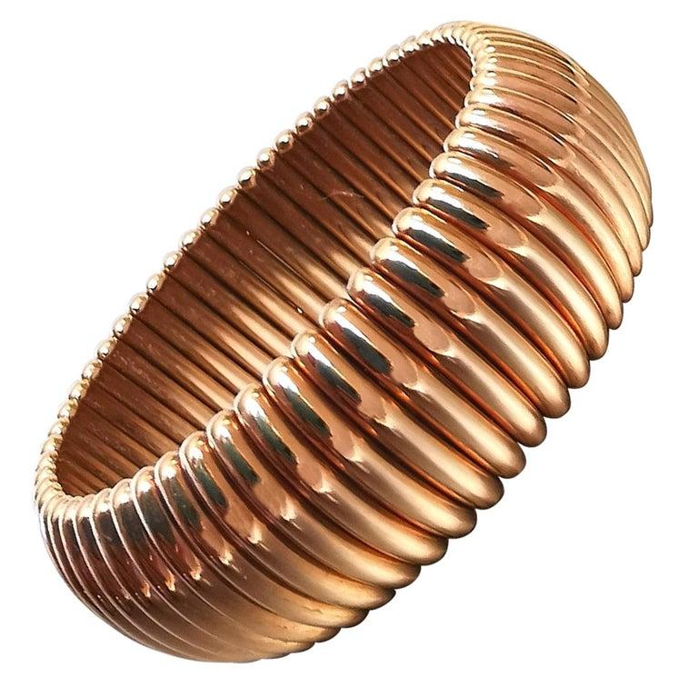 Tubogas Yellow Gold 18 Karat Bracelet