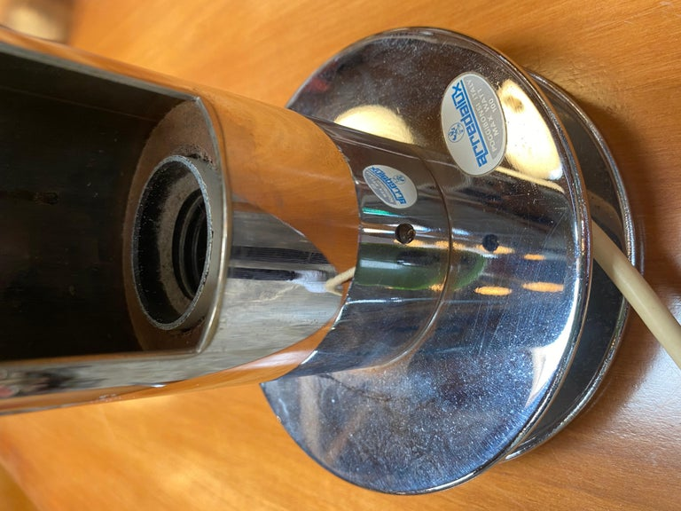 Tubolar Chrome Table Lamps by Arredoluce Italy, 1970s In Excellent Condition For Sale In Los Angeles, CA