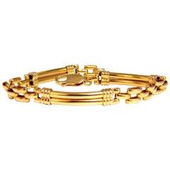 Tubular Arch High Shine Link Bracelet 14 Karat