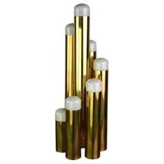 Tubular Brass Table Lamp by Gaetano Sciolari for Boulanger, 1970s