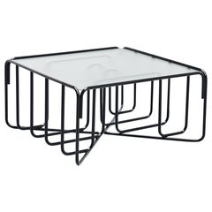 Tubular Coffee Table Reinforced Glass, Holland, 1950