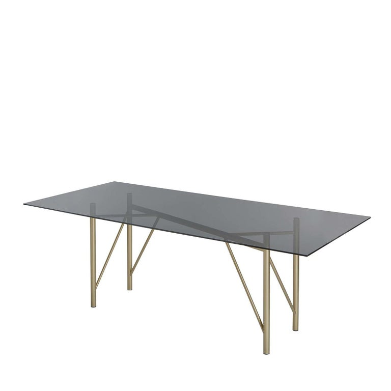 Modern Tubular Rectangular Dining Table For Sale