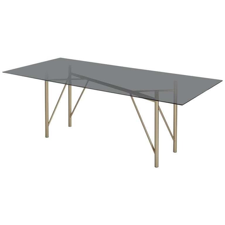 Tubular Rectangular Dining Table For Sale