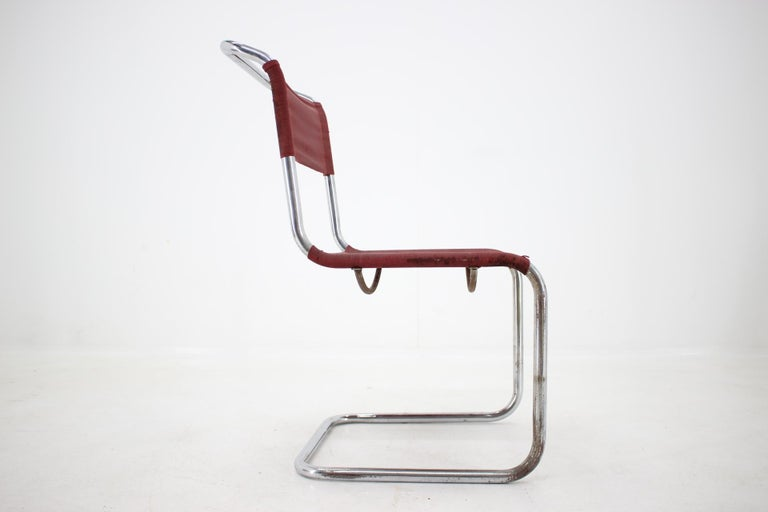 - 1930 - Designer: Mart Stam - Good, absolutely original condition, original isengarn/ iron fabric !! - Very rare and early piece, probably Thonet - Collectible one.