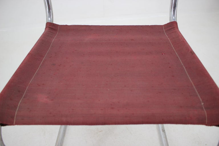 Tubular Steel Chrome Bauhaus Chair, Mart Stam, 1930 In Fair Condition For Sale In Barcelona, ES