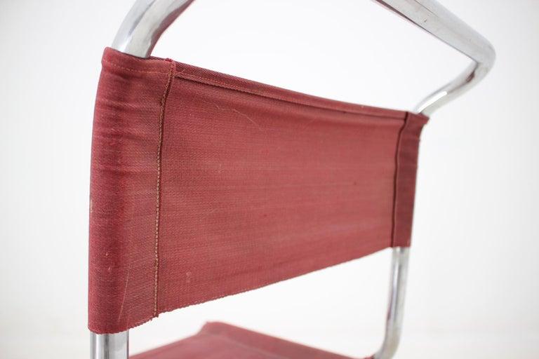 Tubular Steel Chrome Bauhaus Chair, Mart Stam, 1930 For Sale 2
