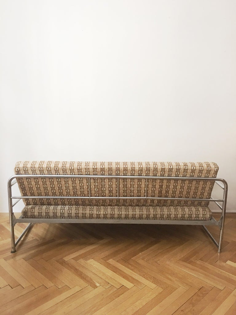 Tubular Steel Couch / Daybed by Robert Slezak, 1930s For Sale 3