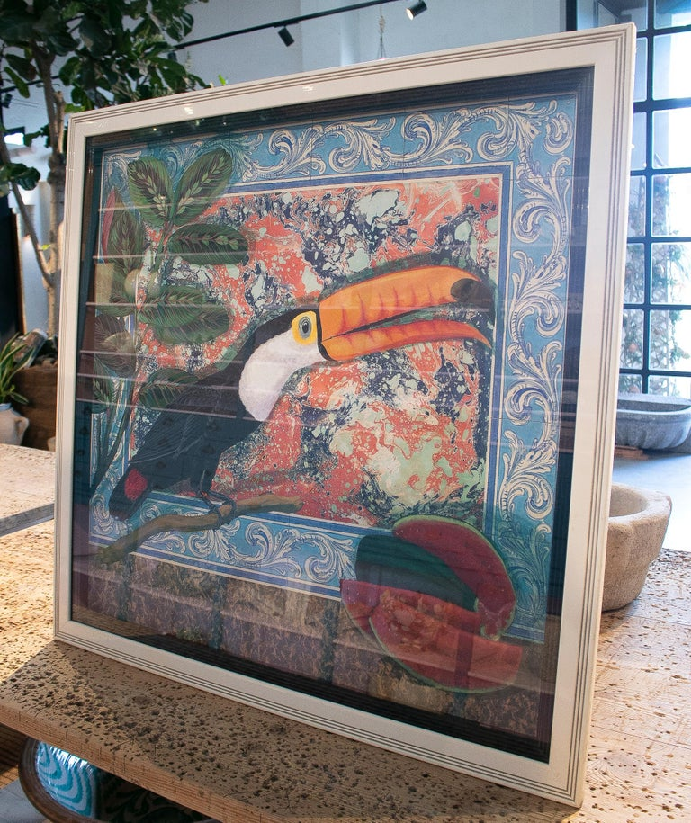 Portuguese Tucan Painting by Joao de Haro For Sale