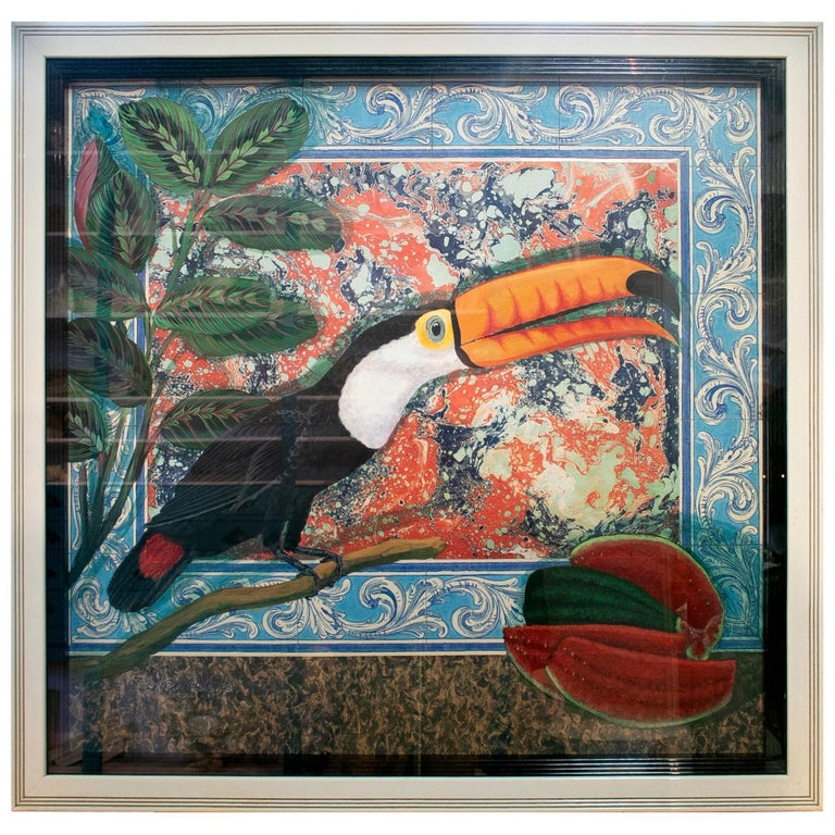Tucan Painting by Joao de Haro For Sale