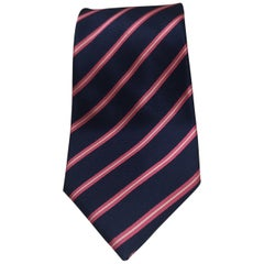 Tucci blue pink silk tie