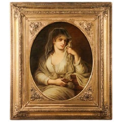 Tuccia the Vestal Virgin Holding a Lamp After Angelica Kauffman