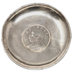 Tuck Chang Sterling Silver Dish with Coin