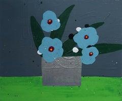 "Tucker Nichols ""BR19141"" - Mixed media floral painting"