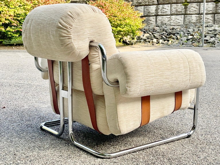 Tucroma Lounge Chair by Guido Faleschini for Pace Collection In Good Condition In Hingham, MA