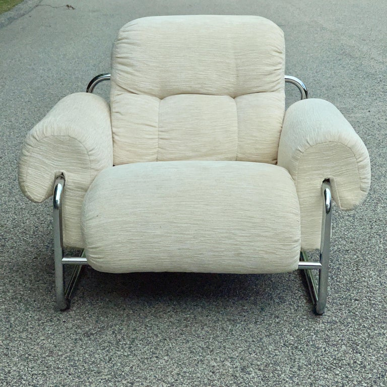 Chrome Tucroma Lounge Chair by Guido Faleschini for Pace Collection