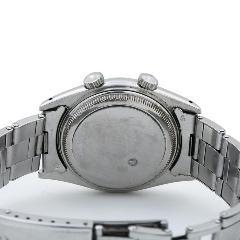 Tudor Advisor Alarm 7926 Men's Manual Wind Stainless Steel In Excellent Condition For Sale In Miami, FL