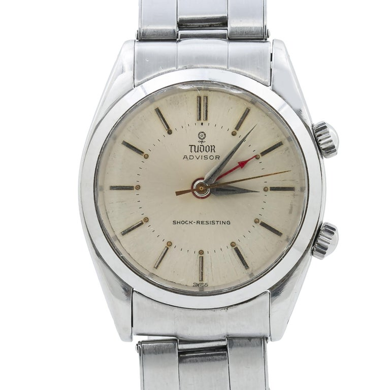 Tudor Advisor Alarm 7926 Men's Manual Wind Stainless Steel For Sale 1